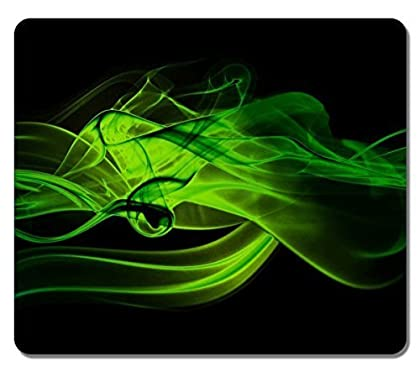 Large Mousepad 14167 Green Smoke Abstract Art N...