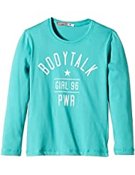 Bodytalk Basics–Camiseta de manga larga para niña Verde Turqoise Talla:8 años