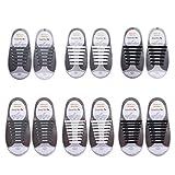 ETSAMOR 6 Paire des lacet elastique enfants et adults lacet elastique pour chaussure sport pour Chaussure Adults Sports Shoes Sneaker Conseil Bottes et Souliers