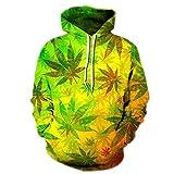 Mode Männer/Frauen 3D Sweatshirts Drucken Bunte Blätter Dünne Hoody Trainingsanzüge Tops mit Kapuze Hoodies DM183 L