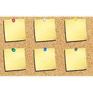 500punaises multicolores pour carte et tableau d'affichage en liège