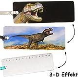 alles-meine.de GmbH 3-D Effekt _  Dinosaurier - Tyrannosaurus T-Rex  - Lesezeichen / Lineal / Ge..