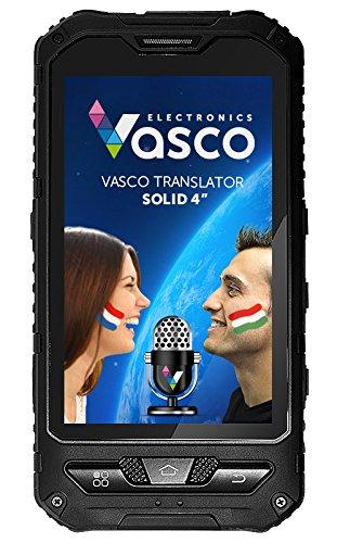 """Vasco Translator Solid 4\"""": Elektronischer Übersetzer mit Spracherkennung, Sprachausgabe, 4\"""" Display, Spezialgehäuse"""