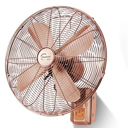 PIGE Ventilador Colgante de Pared de Oro Rosa, Ventilador Industrial Cabeza silenciosa...