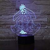 WangZJ 3d Beleuchtung Kinder Lampe/led Schreibtisch Tischdekor Lampe / 7 Farben Remote Touch/Gegenwart Dekoration/Kinder Geschenk/Welpe