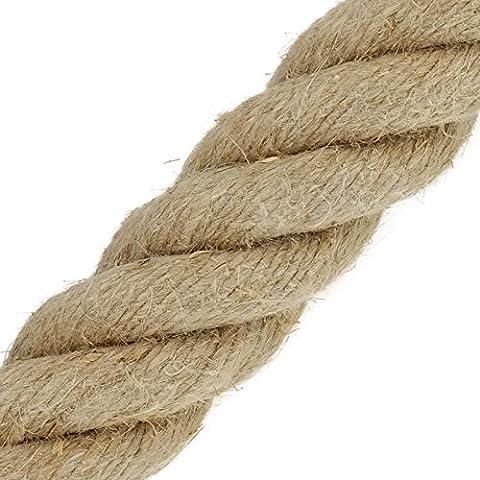 Hanfseil Seil 30mm Meterware 4-litzig gedreht (Preis per Meter)