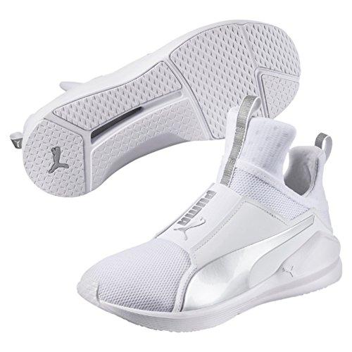 Puma Damen Fierce Core Hallenschuhe Weiß (White-Silver) 38.5 EU