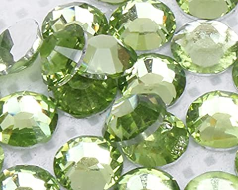 1000pcs 2mm-5mm or Mixed Size Resin Rhinestones 20 colours Diamantes (2mm, light green)