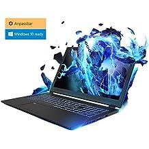 Gaming Laptop Kiebel Lightning 8.0 (15.6 Zoll 39.6cm) Gamer Notebook mit nVidia GeForce GTX 1070 MaxQ 8GB, Intel i7 8750H 6x2.2GHz (Turbo bis 4.1GHz), Metall Gehäuse (nur 1.9cm dick) - Komponenten frei wählbar: bis 32GB DDR4, bis 2TB Samsung 970 M.2 SSD, individuell zusammenstellbar mit Konfigurator