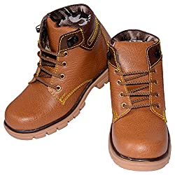 Moody Unisex Kids Tan Synthetic Chukka Boots - 4 UK