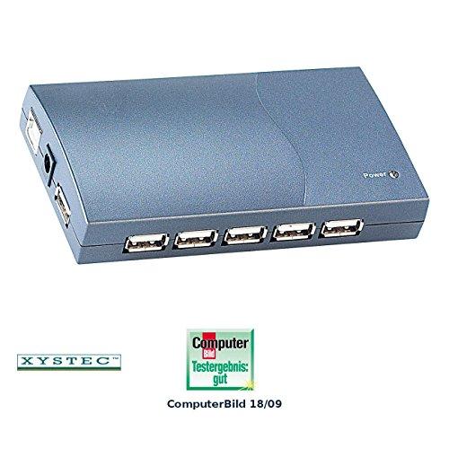 "Xystec USB Hub mit Netzteil: Aktiver USB-2.0-Hub mit 13 Ports""Shisan"" (USB-Hub für Laptop, Notebook)"