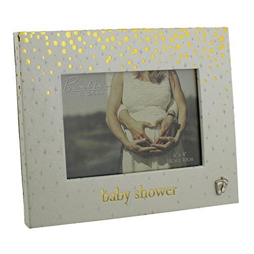 Bambino Gold Dots Baby Dusche Bilderrahmen 15,2x 10,2cm Baby Füße Icon