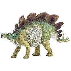 Zooawa Stegosaurus Juguete de dinosaurio Figura - Verde oscuro
