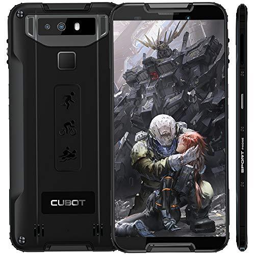 "Cubot Quest (2019) Ultra Dünn Android 9.0 4G Dual SIM IP68 Wasserdicht Sport Outdoor Smartphone ohne Vertrag, 5.5"" HD+ Display mit 4000 mAh Akku, 4GB Ram+64GB Rom, 12MP+2MP / 8MP, NFC Funktion Schwarz"