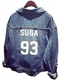 SERAPHY Unisex BTS Sudadera Ropa BTS Chaqueta de Mezclilla para Army Suga Jin Jimin Jung Kook