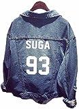 SERAPHY Unisex BTS Sudadera Ropa BTS Chaqueta de Mezclilla para Army Suga Jin Jimin Jung Kook J-Hope Rap-Monster V 93
