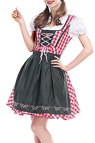 BOZEVON Damen Wench Bayerisches Biermädchen Oktoberfest Kostüm für - Wench Womens Kostüm