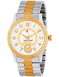 Swiss Grand SG_1218 Silver Gold Coloured With Silver Gold Stainless Steel Strap Quartz Watch For Men