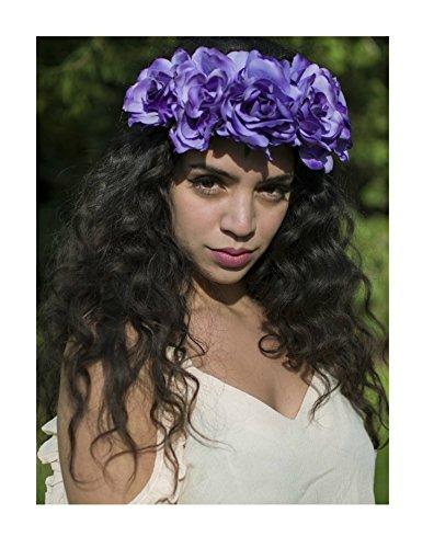 Violet Taille Guirlande Rose Fleur Bandeau cheveux vintage Festival Boho Big p86 * * * * * * * * exclusivement vendu par – Beauté * * * * * * * *