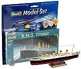 Revell Modellbausatz Schiff 1:1200 - R.M.S. Titanic im Maßstab 1:1200, Level 3, originalgetreue Nachbildung mit vielen Details, Kreuzfahrtschiff, Model Set mit Basiszubehör, 65804