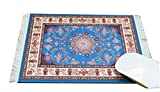 Inusitus Teppich Mauspad - Büro Zubehör - Orientalischer Teppich Computer Zubehör (Blau)