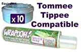 Tommee Tippee and Sangenic compatible nappy bin cassette liner from Wrapooh . Now equivalent to approx 10 'fit all tubs' cassettes. Please see description.