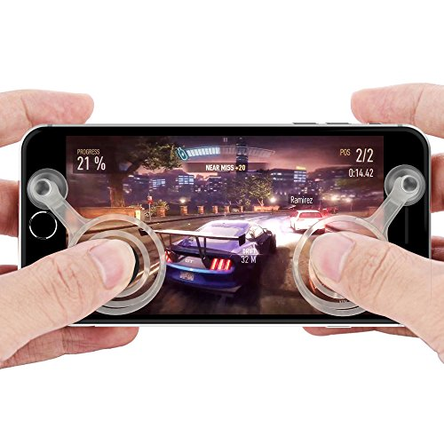 shenzoo® Joystick Joypad für Apple iPhone + Android Handy Smartphone + iPad Tablet Game Controller in weiss -