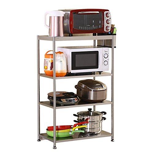 ator-multi Storey Kitchen Storage-Regale, Boden-stehendes Edelstahl-Mikrowellen-Regal, Topf-Gestell, Gewürz-Gestell,4 Schichten -56cm (Stehend Ei)