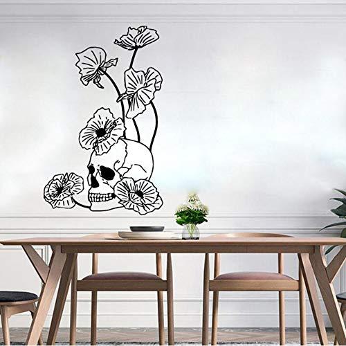 Cyalla Wandaufkleber 40 * 94Cm Pvc -Halloween -Skelett -Hintergrund -Wand -Aufkleber Für Wohnzimmer Schlafzimmer `Diy Wandaufkleber