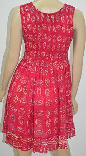 LOTUSTRADERS Damen Batik Minikleid Schwarz-Weiß