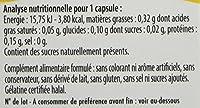 Composition / Ingrédients  Huile de soja ; capsule (gélatine, stabilisant : glycérol) ; gelée royale ; miel ; épaississant : cire d'abeille jaune ; émulsifiant : mono et diglycérides dacides gras.