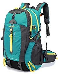 Lixada 40L Resistente al Agua Mochila, Portátil Mochila Trekking, Laptop Daypack, Durable Impermeable, para Escalada, Viajes, Actividades al Aire Libre (Lago Azul)