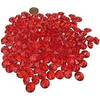 200pieza 11mm reluciente Rojo Decoración diamantes brillantes brillantes de piedras de acrílico transparente transparente cristal Manualidades gltzer piedras joyas piedras brillantes cristales decorativos para decorar de Crystal King