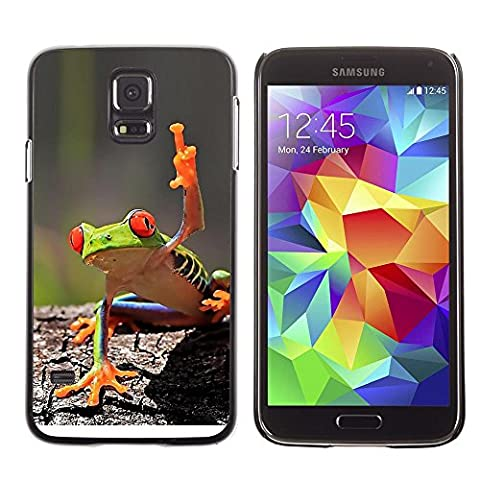 GooooStore/Housse Etui Cas Coque - You Cool Frog Green Jungle Creature - Samsung Galaxy S5 SM-G900