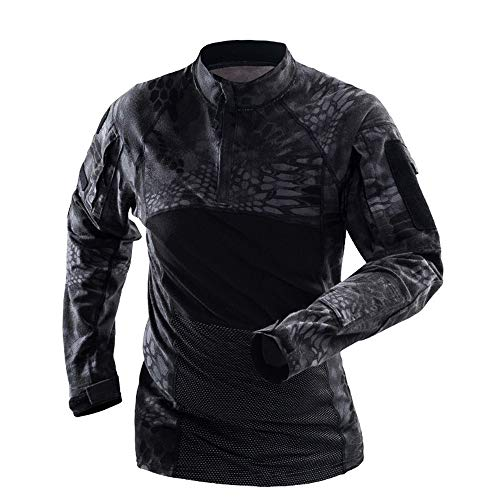 Zolimx Herren Camouflage Pullover Langarm Männer Taktik Armee Beefy Muscle Grund Feste Bluse Outdoor-Tactical Sport T-Shirt Top