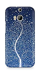 Amez designer printed 3d premium high quality back case cover for HTC One M8 (Christmas Tree )