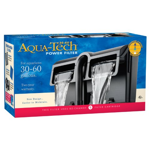 Aqua-tech Power Aquarium Filter w/Filtration in 3Schritten, 30 to 60-Gallon, Gray/Black