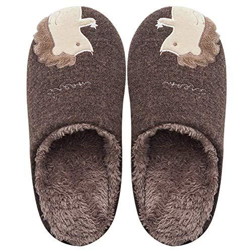 YOOEEN Zapatillas de Estar por Casa Lindo Animados para Niños Mujer Hombre Invierno Pelusa Forro Pantuflas Interior de Memoria Espuma Cómodo Caliente Zapatos de Algodón