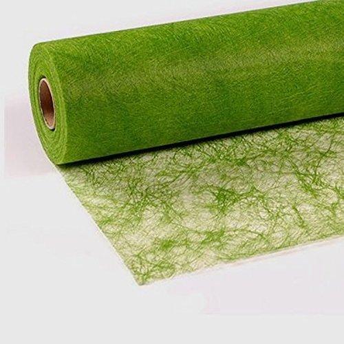 25 m x 30 cm Sizoflor® Vlies Original Tischband Tischläufer grün apfelgrün für Hochzeit, Weihnachten …