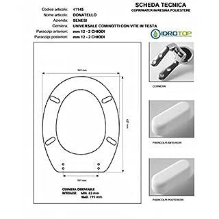 Toilet Senesi Donatello White Zip cromo-sedile-asse Toilet
