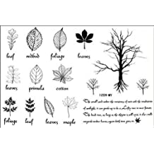 Fashion Male and female fake tattoos Watertight the English small trees leaf tattoo stickers