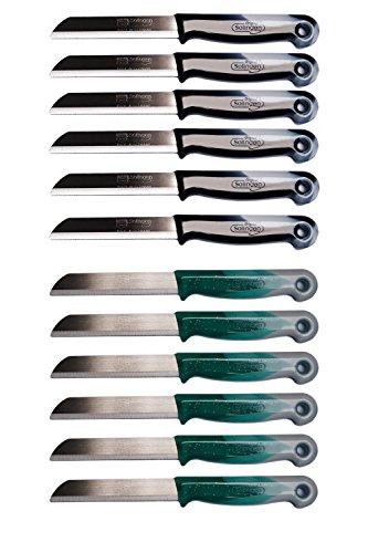 henmesser Obstmesser Gemüsemesser Scharf Tafelmesser im Set (Mix, 12 Stück) ()