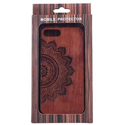 Hülle für iPhone 7 plus , Schutzhülle Für iPhone 7 Plus Artistic Carving Muster Rosewood + PC Bordure Schutzmaßnahmen zurück Fall Shell ,hülle für iPhone 7 plus , case for iphone 7 plus ( SKU : Ip7p14 Ip7p1451t