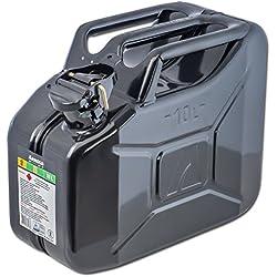 Bidon à carburant 10L, noir, en métal Arnold 6011-X1-2001