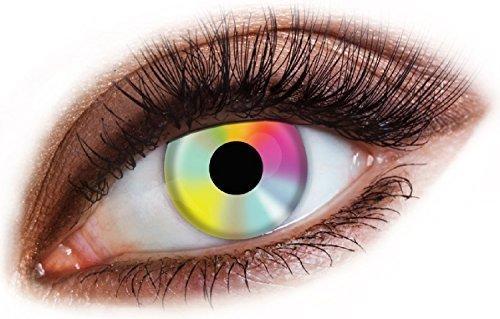 Fancy Me Erwachsene Herren Damen Rainbow Pride LGBT Augen Halloween Karneval Kosmetikum farbiges Kostüm Schutzbrille Zubehör