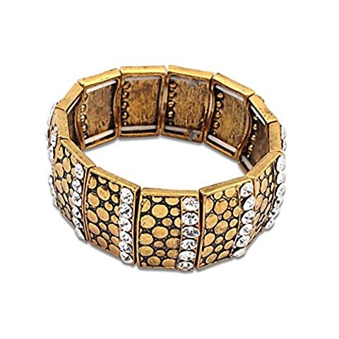 GYJUN Women's Men's Chain Bracelet Cuff Jewelry Friendship Fashion Vintage Bohemian , yellow