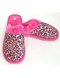 """Zapatillas para estar en casa. """"Leopardo, ROSA"""". Ligeras, cómodas y calentitas. De la talla 36 a la 41."""