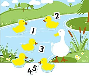 "Inspirational Classrooms 3153106 ""Magnético 5 Patos Pequeños Went Swimming Juguete Educativo"