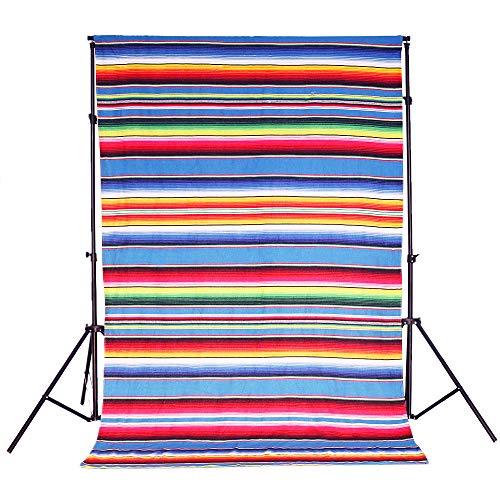 YZEO Vorhang für mexikanische Decke, gestreift, mexikanisches Fiesta-Hintergrund, 12,2 x 2,1 m (Mexikanische Decke Vorhänge)