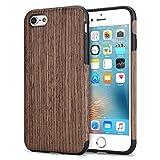 TENDLIN iPhone 6s Hülle Holz und Flexiblem TPU Silikon Hybrid Weiche Schutzhülle für iPhone 6 6s (Schwarz Palisander)